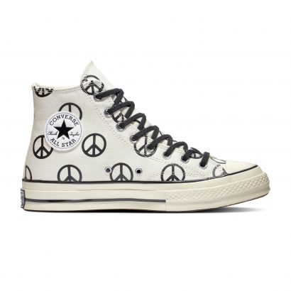 CHUCK 70 BLACK AND WHITE PEACE SIGN
