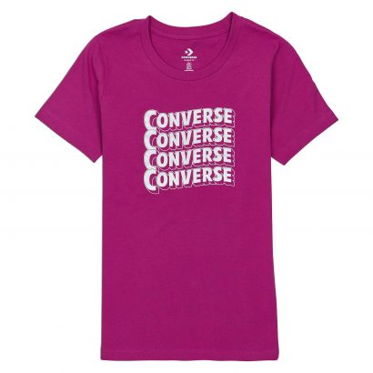 Converse Womens Metallic Wave Classic Tee